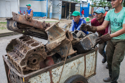 Venezuelans are so desperate to survive that they sell scrap metal to the neighbour country.