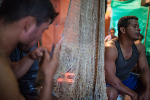 Rodolfo Flores (right) had his boat confiscated by the leftist guerrillas National Liberation Army (ELN) because he did a transport without their permission.