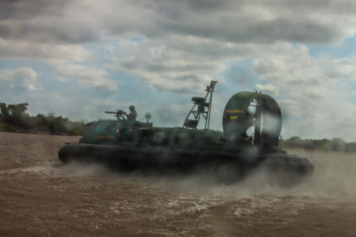 The Colombian Marine Corps patrols daily to prevent canoeros from smuggling. It is an impossible task. The smugglers simply wait on the shore until the navy ships have passed.