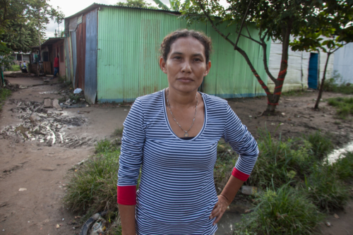 This woman lost her job as a domestic help. Many women in Brisas del Puente worked  cleaning middle class homes of Arauca. Their former employers prefer Venezuelan women now who charge lower rates.