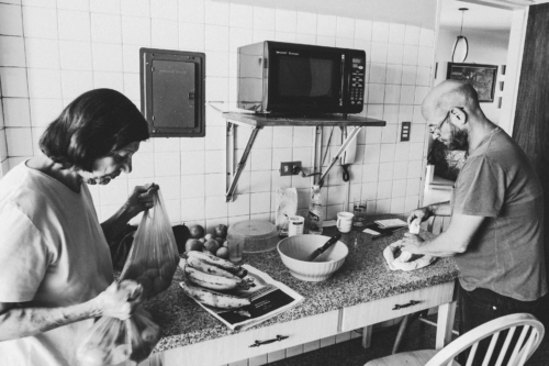 Cudisevich was preparing a challa, a bread usually made before Shabbat, while his mother Eva was unpacking groceries.