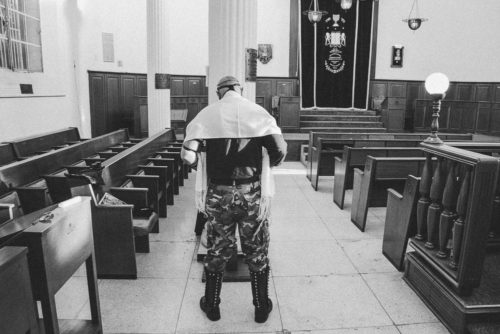 With his leather vest and boots, Moses Kaim, 50, made an impressive figure when I met him for the first time in a synagogue.