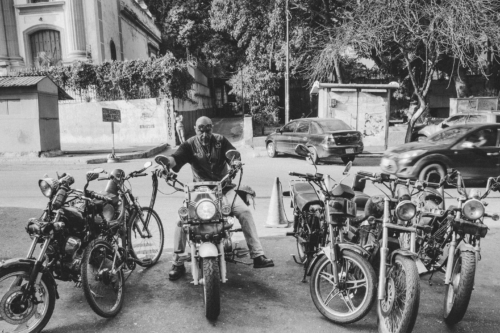 """Kaim is a prospect of the Motorcycle Club """"Legion Condor"""" in Caracas. There are only two Jewish bikers in the country and he is one of them, said Kaim."""
