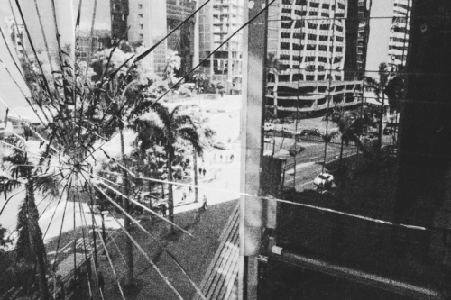 A lost bullet fired during a street protest left a hole in the window of the office of a Jewish businessman in Caracas.