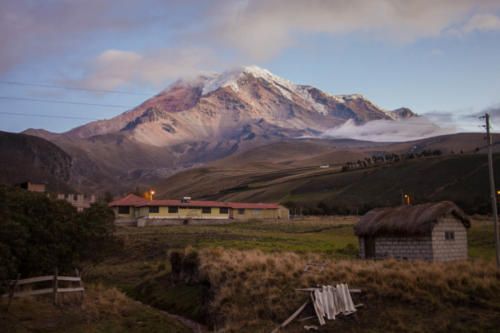 With its 6267 meters, the Chimborazo volcano is the highest mountain of Ecuador.