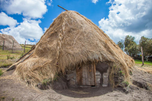 The Puruhá people living around the Chimborazo breed alpakas. They stay over night in these huts when it´s too late to return to their home villages.